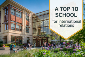 The School of International Service ranked a top 10 school for international relations