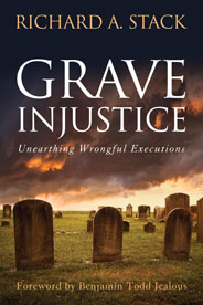 Book cover for Grave Injustice by SOC professor Rick Stack