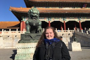 Hunter Martin of Perry visiting the Forbidden City in Beijing.