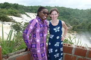 Rachel Robinson (right) with Ore Ojo, a senior program manager from White Ribbon Alliance Nigeria.