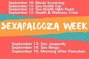 Events that will take place during the week of September 10-15