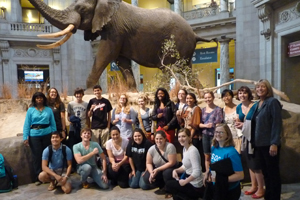 SOC Students at Natural History Museum