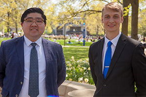 2018 Outstanding Scholarship Recipients Daniel Oshiro and Nathaniel Edenfield