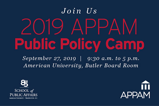2019 APPAM Public Policy Camp
