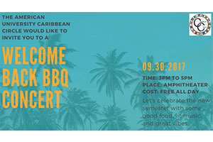 The Caribbean Circle BBQ and Concert taking place on September 30th in the Amphitheater.