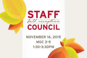 Staff Council Fall Reception cover art