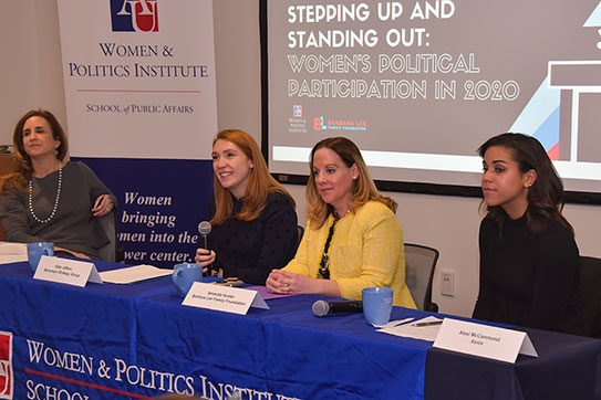 Panel at Women & Politics Institute event