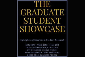 The Graduate Leadership Council invites you to the Graduate Student Showcase