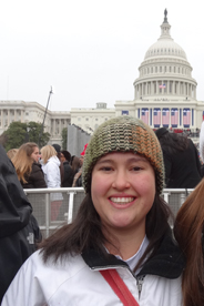 Lizzie Martinez at inauguration