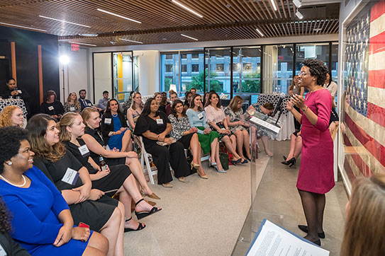 Rep. Lauren Underwood at WeLead Graduation Ceremony
