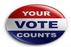 Campaign button: Your Vote Counts