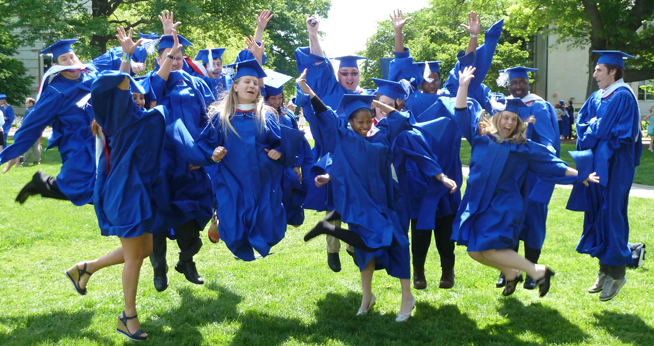 2012 graduates of American University School of Communication Interactive JOurnalism program jump for joy