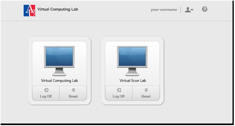 List of desktop pools screenshot