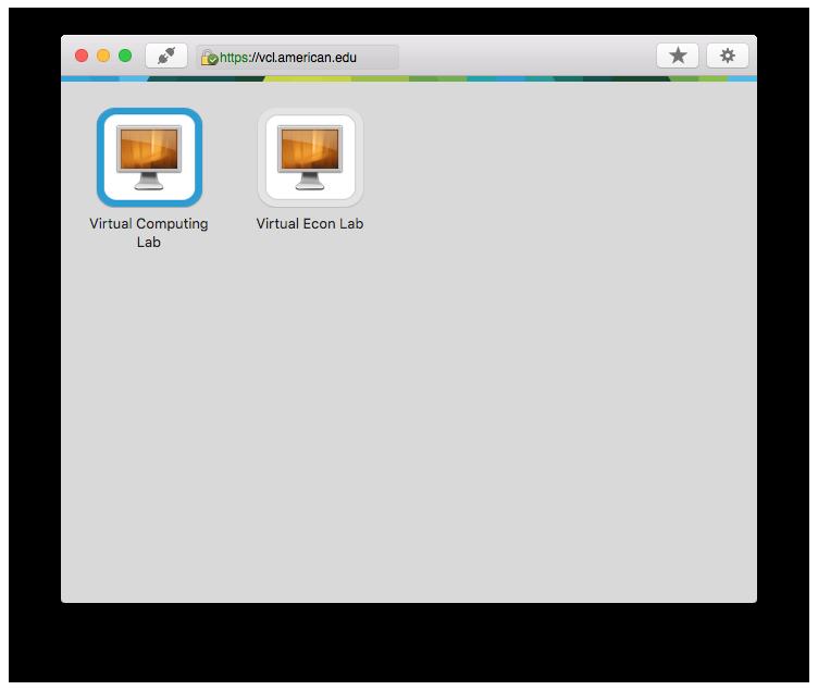 VCL Desktops Dialog Screenshot